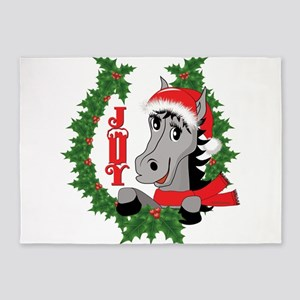 CHRISTMAS HORSE JOY 5'x7'Area Rug