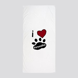 Personalized Pet Beach Towel
