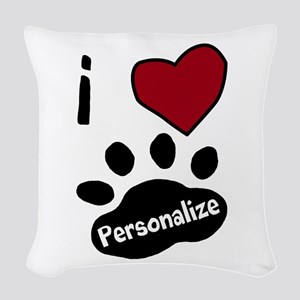 Personalized Pet Woven Throw Pillow