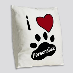 Personalized Pet Burlap Throw Pillow