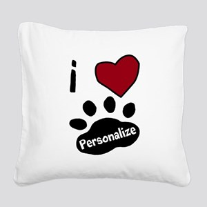 Personalized Pet Square Canvas Pillow