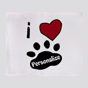 Personalized Pet Throw Blanket