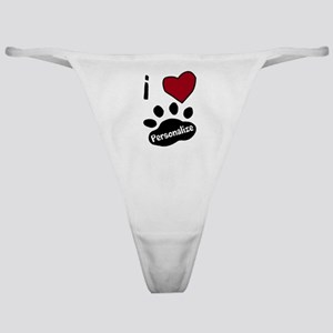 Personalized Pet Classic Thong