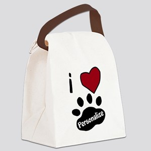 Personalized Pet Canvas Lunch Bag