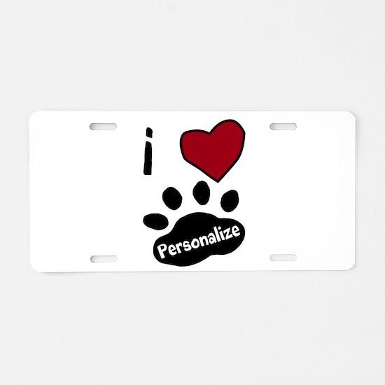 Personalized Pet Aluminum License Plate