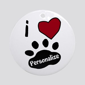 Personalized Pet Round Ornament