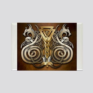 Norse Valknut Dragons Magnets