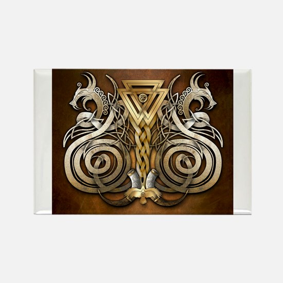 Norse Valknut Dragons Magnets