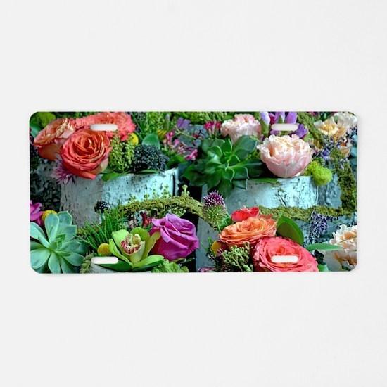 Funny Florist Aluminum License Plate
