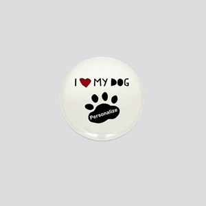 Personalized Dog Mini Button