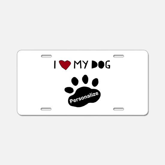 Personalized Dog Aluminum License Plate