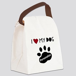 Personalized Dog Canvas Lunch Bag