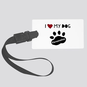 Personalized Dog Large Luggage Tag