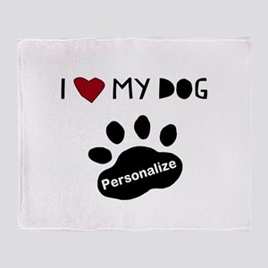 Personalized Dog Throw Blanket