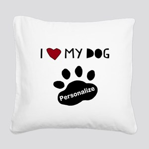 Personalized Dog Square Canvas Pillow