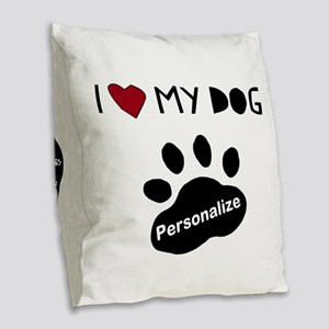 Personalized Dog Burlap Throw Pillow