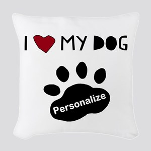 Personalized Dog Woven Throw Pillow