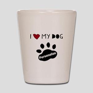 Personalized Dog Shot Glass