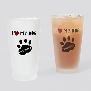 Personalized Dog Drinking Glass