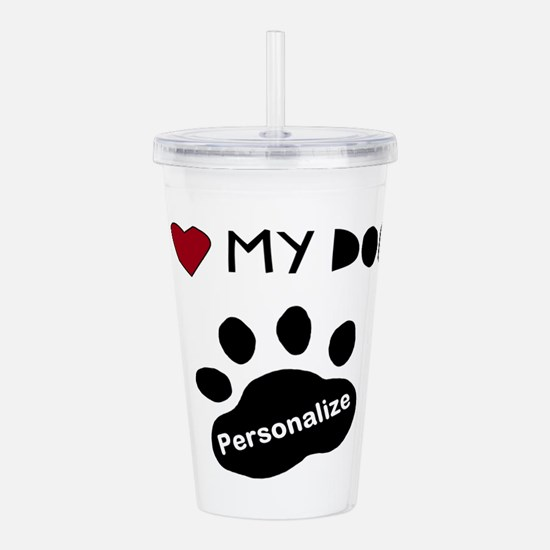 Personalized Dog Acrylic Double-wall Tumbler