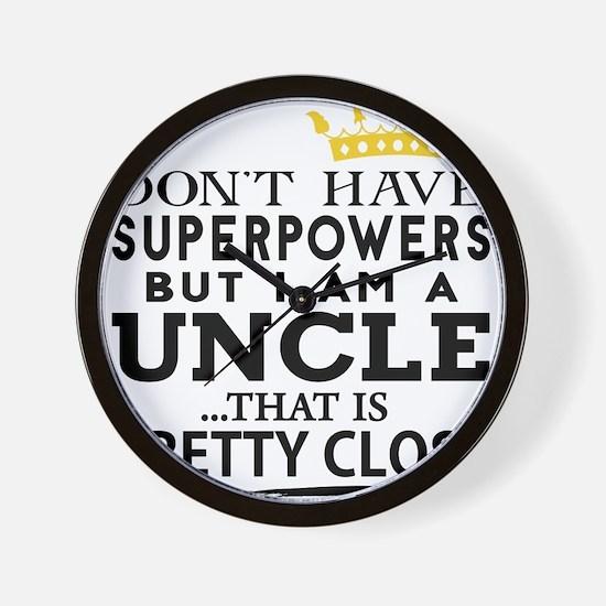 SUPER UNCLE! Wall Clock