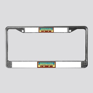 Stop Trump Now License Plate Frame