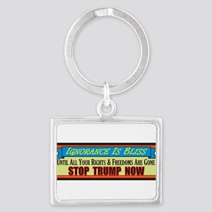 Stop Trump Now Keychains