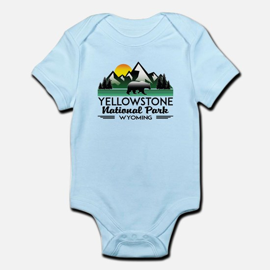 YELLOWSTONE NATIONAL PARK WYOMING MOUNTA Body Suit