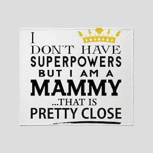 SUPER MAMMY! Throw Blanket