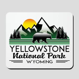 YELLOWSTONE NATIONAL PARK WYOMING MOUNTA Mousepad