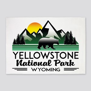 YELLOWSTONE NATIONAL PARK WYOMING M 5'x7'Area Rug