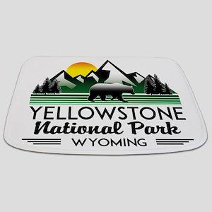 YELLOWSTONE NATIONAL PARK WYOMING MOUNTAIN Bathmat