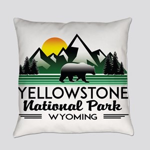 YELLOWSTONE NATIONAL PARK WYOMING Everyday Pillow