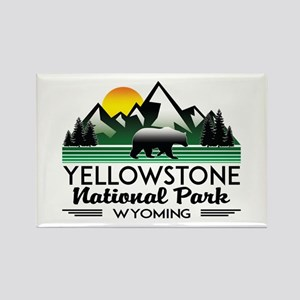 YELLOWSTONE NATIONAL PARK WYOMING MOUNTAIN Magnets