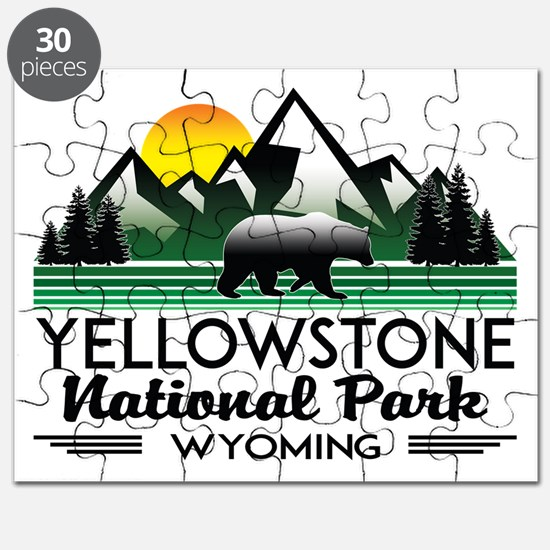 YELLOWSTONE NATIONAL PARK WYOMING MOUNTAINS Puzzle