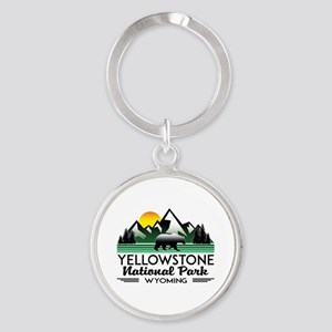 YELLOWSTONE NATIONAL PARK WYOMING MOUNTA Keychains