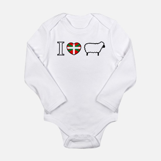 I Heart Sheep Infant Creeper Body Suit