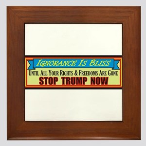 Stop Trump Now Framed Tile