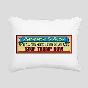Stop Trump Now Rectangular Canvas Pillow