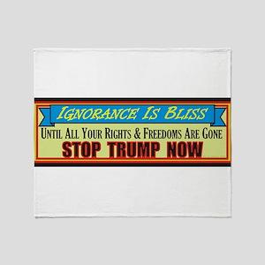 Stop Trump Now Throw Blanket