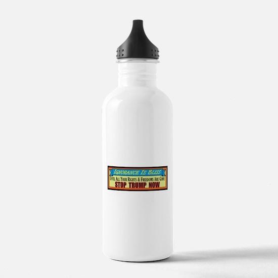 Stop Trump Now Water Bottle