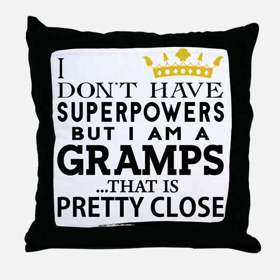SUPER GRAMPS! Throw Pillow
