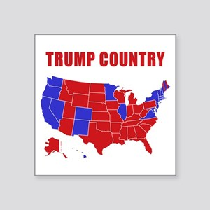 "Trump Country Square Sticker 3"" x 3"""