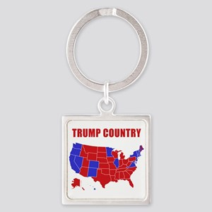 Trump Country Square Keychain