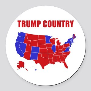Trump Country Round Car Magnet