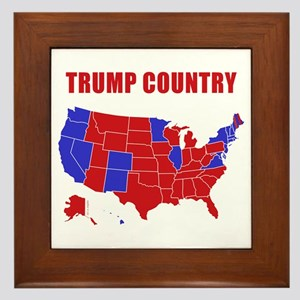 Trump Country Framed Tile