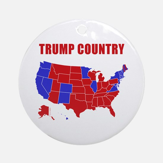 Trump Country Round Ornament