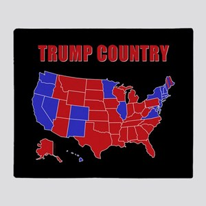 Trump Country Throw Blanket