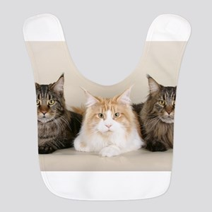 maine coon group Polyester Baby Bib