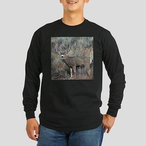 Utah mule deer buck Long Sleeve Dark T-Shirt